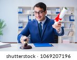 laywer with diploma roll in...   Shutterstock . vector #1069207196