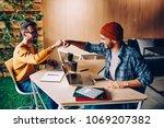 prosperous male it developers... | Shutterstock . vector #1069207382