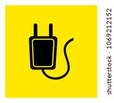 electrical plug. charge cable... | Shutterstock .eps vector #1069212152