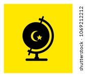 globe moon star. turkey icon... | Shutterstock .eps vector #1069212212