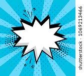 white empty speech comic bubble ...   Shutterstock .eps vector #1069213466