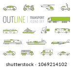 transportation icons set. city... | Shutterstock .eps vector #1069214102