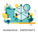 vector illustration.little... | Shutterstock .eps vector #1069214672