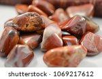brecciated jasper. tumbled... | Shutterstock . vector #1069217612