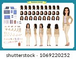 young woman  casual clothes.... | Shutterstock .eps vector #1069220252