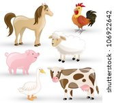 vector set of isolated farm... | Shutterstock .eps vector #106922642
