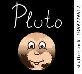 anthropomorphic planet pluto... | Shutterstock .eps vector #1069229612