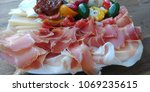 different appetizer on wood...   Shutterstock . vector #1069235615