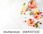 summer refreshing drinks  fruit ... | Shutterstock . vector #1069237232