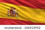 flag of spain waving in the... | Shutterstock . vector #106923932