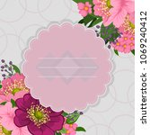 beautiful floral design. vector ... | Shutterstock .eps vector #1069240412
