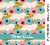 beautiful floral design. vector ... | Shutterstock .eps vector #1069240466