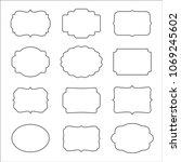 vector set of frames templates... | Shutterstock .eps vector #1069245602