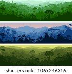 set of vector horizontal... | Shutterstock .eps vector #1069246316