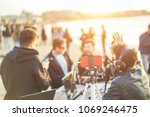 group of young people making a...   Shutterstock . vector #1069246475