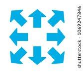 blue arrows in 8 eight... | Shutterstock .eps vector #1069247846