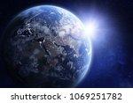 3d render of planet earth...   Shutterstock . vector #1069251782