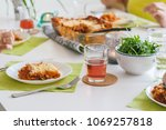several people dine at the... | Shutterstock . vector #1069257818