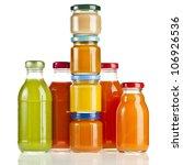 bottles with fruit berry juice  ... | Shutterstock . vector #106926536