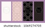 a set of packaging templates... | Shutterstock .eps vector #1069274705