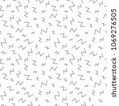 memphis geometric seamless... | Shutterstock . vector #1069276505