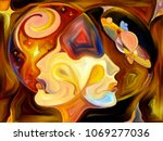 stained glass forever series.... | Shutterstock . vector #1069277036