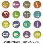 guitar and accessories web... | Shutterstock .eps vector #1069277648
