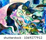 stained glass forever series.... | Shutterstock . vector #1069277912