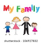 draw of family with colors ... | Shutterstock .eps vector #106927832
