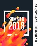 summer 2018 hot colors lava... | Shutterstock .eps vector #1069281458