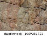 granite rocks with faults... | Shutterstock . vector #1069281722