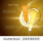 cosmetic jars of tubes and... | Shutterstock . vector #1069284335