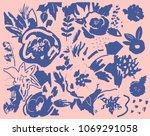 creative universal artistic... | Shutterstock .eps vector #1069291058