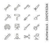 work tools set icon vector.... | Shutterstock .eps vector #1069293266