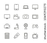 electronic device set icon... | Shutterstock .eps vector #1069293275