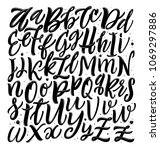 vector alphabet background... | Shutterstock .eps vector #1069297886