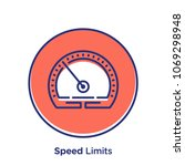 speed related offset style... | Shutterstock .eps vector #1069298948