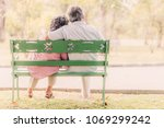 back view senior couple sitting ... | Shutterstock . vector #1069299242