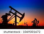 the oil pump  industrial... | Shutterstock . vector #1069301672