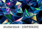stylish multi color crystal... | Shutterstock . vector #1069306202