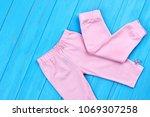stretch cotton leggings for...   Shutterstock . vector #1069307258