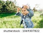 little boy in the nature | Shutterstock . vector #1069307822