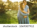 young couple in love having fun ... | Shutterstock . vector #1069307912