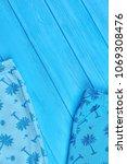 baby summer apparel  copy space.... | Shutterstock . vector #1069308476
