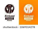 cooking logo or label. food ... | Shutterstock .eps vector #1069314278