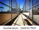 baseball dugout and bench       ...   Shutterstock . vector #1069317905