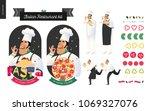italian restaurant set  ...   Shutterstock .eps vector #1069327076