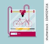 3d printing a bike model  the...   Shutterstock .eps vector #1069329116