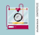 3d printing a wheel model  the...   Shutterstock .eps vector #1069329122