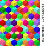 vector colorful blocks pattern... | Shutterstock .eps vector #1069330055